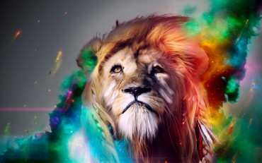 Wallpaper-fantasy-lion-colorful-wallpapers